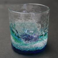 潮騒でこぼこグラス
